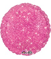 "18"" Faux Sparkle Hot Pink Balloon"