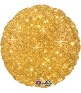 "18"" Faux Sparkle Gold Balloon"