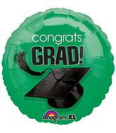 """18"""" Congrats Grad Balloon Green"""