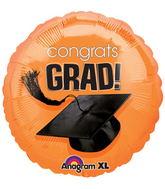 """18"""" Congrats Grad Balloon Orange"""