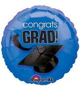 """18"""" Congrats Grad Balloon Royal Blue"""