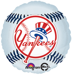 "18"" MLB New York Yankees Baseball Balloon"