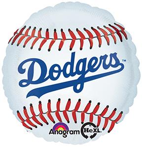 "18"" MLB Los Angeles Dodgers Baseball Balloon"