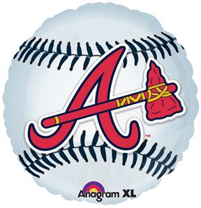 "18"" MLB Atlanta Braves Baseball Balloon"