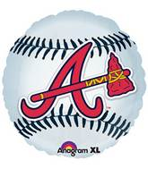 "18"" MLB Atlanta Braves Baseball Balloon"