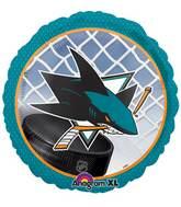 """18"""" NHL San Jose Sharks Mylar Balloon"""