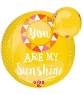 "16"" Orbz Jumbo You are My Sunshine Balloon Packaged"