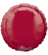 "18"" Dark Metallic Burgundy Decorator Circle"