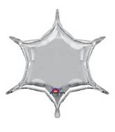 """22"""" Silver 6-Point Star"""