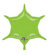 """22"""" Lime 6-Point Star"""