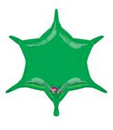 "22"" Green 6-Point Star"