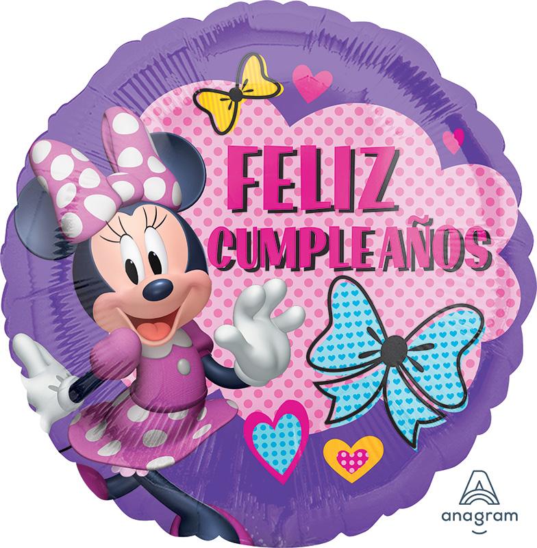 """18"""" Minnie Happy Helpers Feliz Cumpleaños Balloon"""