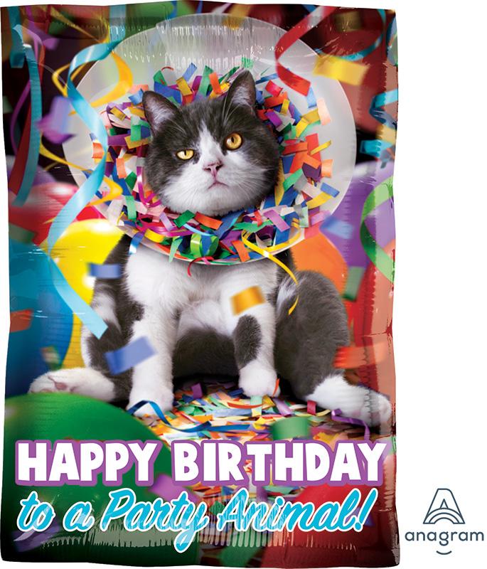 "17"" Avanti HBD Party Animal Balloon"