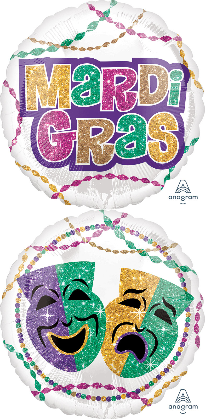 "18"" Mardi Gras Party Balloon"