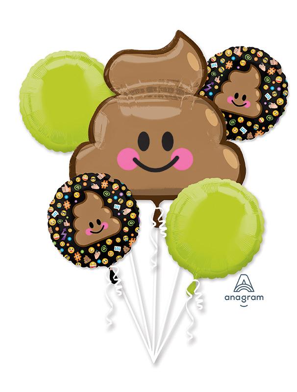 Bouquet LOL Emoticon Balloon Poop