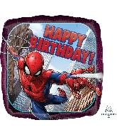 "18"" Spider-Man Happy Birthday Balloon"