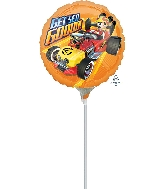 "9"" Mickey Roadster Get Set Go Balloon"