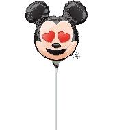 "9"" Mickey Mouse Emoji Balloon"