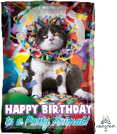 "17"" Avanti HBD Party Animal Balloon"