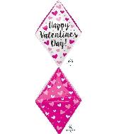 "25"" Happy Valentine's Day Gem Balloon Anglez"