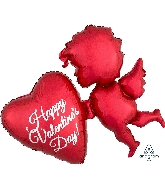 """30"""" Red Cupid Balloon"""