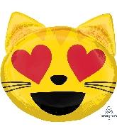 "22"" Emoticon Cat Love Balloon"
