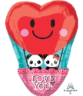 "17"" Panda Love Balloon"