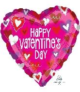 """21"""" Happy Valentine's Day Hearts Balloon"""