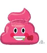"""25"""" Emoticon Pink Poop Balloon"""