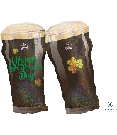 """28"""" St. Patty's Beer Glasses Balloon"""