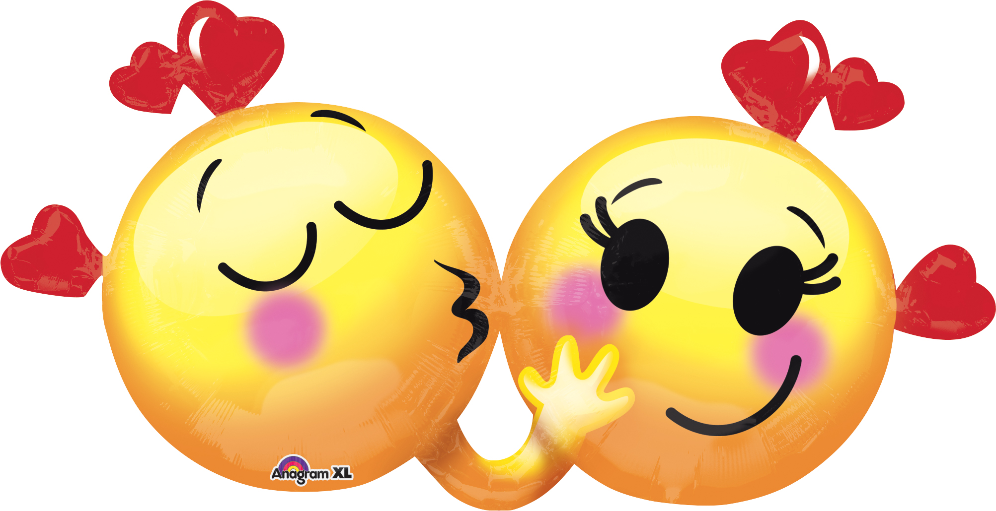 """36"""" Emoticons in Love Balloon"""