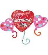 "38"" Happy Valentine's Day Balloon Hearts Balloon"