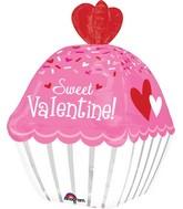 "24"" Sweet Valentine Cupcake Balloon"
