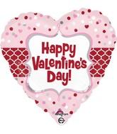 "18"" Valentine Quartrefoil Balloon"