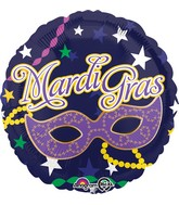 "18"" Mardi Gras Mask Balloon"