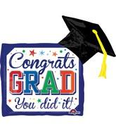 """30"""" Jumbo Diploma & Hat Balloon"""