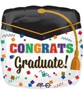 """18"""" Confetti Graduate Balloon"""
