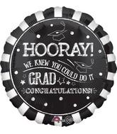 "18"" Hooray Grad Balloon"