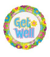 "18"" Get Well Flowers Balloon"