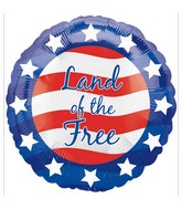 """18"""" Patriotic Land Of the Free Balloon"""