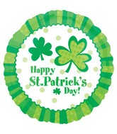 """18"""" Lucky Wishes St. Patrick Day Balloon"""