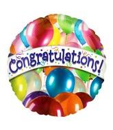 """18"""" Congratulations Many Balloons"""