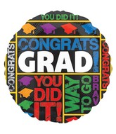 "18"" Grad Messages Balloon"