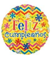 "18"" Feliz Cumpleanos Bright Balloon"