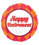 "18"" Retirement Balloon Plaid"