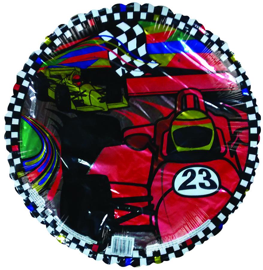 "18"" Formula 1 Racer Checkered Border (Slight Damaged Print)"