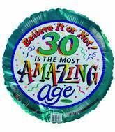 "18"" Most Amazing Age 30th Birthday"