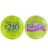 "18"" Baby Fair Event Purple & Green Background Balloon"
