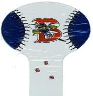"14"" Air Filled Hammer Balloon Burlignton Bee's Baseball"