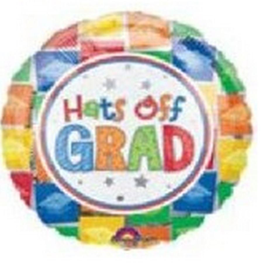 "32"" SuperShape Hats Off Grad"